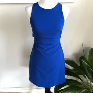 Zara royal blue cutout dress